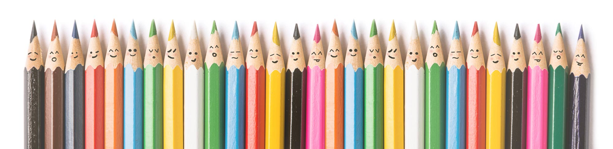 Colored Pencils Representing Diversity